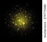 gold glitter particles... | Shutterstock .eps vector #379775380