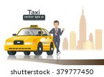 taxi driver in the city.... | Shutterstock .eps vector #379777450