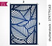 die cut card. laser cut vector... | Shutterstock .eps vector #379779163