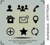 contact icons | Shutterstock .eps vector #379779244
