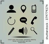 internet icons set | Shutterstock .eps vector #379779274