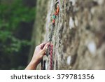Climbers Hold And Quick Draw