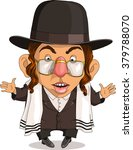 vector. funny jew. travesty... | Shutterstock .eps vector #379788070