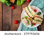 club sandwich with cheese ... | Shutterstock . vector #379793656