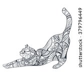 coloring book. animal. cat.... | Shutterstock .eps vector #379796449
