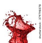 red juice splash closeup... | Shutterstock . vector #379798378