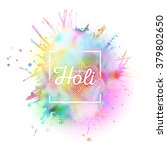 colorful background for holi... | Shutterstock .eps vector #379802650