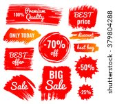 vector collection of big sale ... | Shutterstock .eps vector #379804288