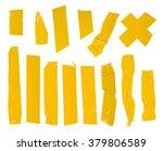 adhesive yellow tape set....   Shutterstock . vector #379806589