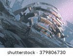 man standing on the hill...   Shutterstock . vector #379806730
