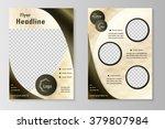 vector flyer template design... | Shutterstock .eps vector #379807984