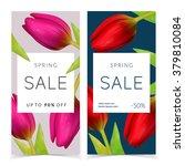 bright spring sale design.... | Shutterstock .eps vector #379810084