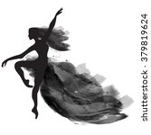 vector watercolor ballerina in...   Shutterstock .eps vector #379819624