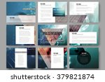 set of 9 vector templates for... | Shutterstock .eps vector #379821874
