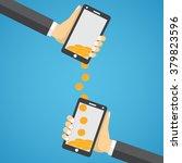 people sending and receiving... | Shutterstock .eps vector #379823596