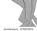black and white mobious wave... | Shutterstock .eps vector #379823953