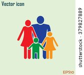 happy family icon in simple...   Shutterstock .eps vector #379827889