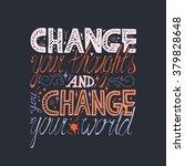 lettering motivation poster.... | Shutterstock .eps vector #379828648