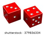 pair of dice   seven out ... | Shutterstock . vector #379836334