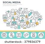 social media  communication... | Shutterstock .eps vector #379836379