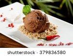 fine dining  chocolate ice... | Shutterstock . vector #379836580