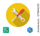 screwdriver and wrench icon.... | Shutterstock .eps vector #379840150
