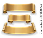 blank scrolls of gold paper... | Shutterstock .eps vector #379840669