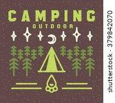 brochure camping outdoor ... | Shutterstock .eps vector #379842070