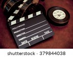 movie clapper board and... | Shutterstock . vector #379844038