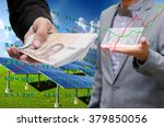 investor investment in solar... | Shutterstock . vector #379850056