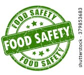 food safety rubber stamp ... | Shutterstock .eps vector #379853683