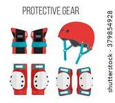 vector set of roller skating... | Shutterstock .eps vector #379854928