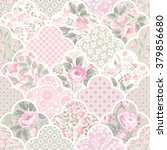 seamless floral patchwork... | Shutterstock .eps vector #379856680
