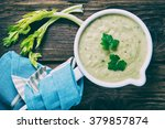 delicious cream of celeriac...   Shutterstock . vector #379857874