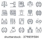 law and justice icon set... | Shutterstock .eps vector #379859584