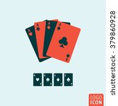playing cards icon. ace playing ...