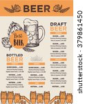 beer restaurant brochure vector ... | Shutterstock .eps vector #379861450