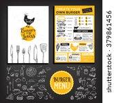 restaurant brochure vector ...   Shutterstock .eps vector #379861456