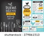 restaurant brochure vector ... | Shutterstock .eps vector #379861513