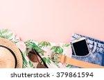 overhead shot of female casual... | Shutterstock . vector #379861594