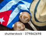 cuban flag  panama hat and... | Shutterstock . vector #379862698