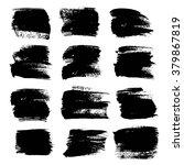 big black strokes set isolated... | Shutterstock .eps vector #379867819