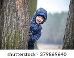Adorable Little Boy Playing...