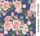 floral seamless pattern with... | Shutterstock . vector #379874380