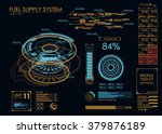hud ui for business app.... | Shutterstock .eps vector #379876189