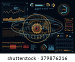 hud ui for business app.... | Shutterstock .eps vector #379876216