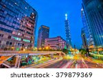 taipei city center at night.   Shutterstock . vector #379879369