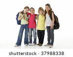 group of children in studio | Shutterstock . vector #37988338