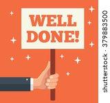 well done. vector cartoon flat... | Shutterstock .eps vector #379883500