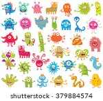 set of funny little monsters.... | Shutterstock .eps vector #379884574